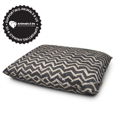 Outdoor Dog Bed Chevron Raven Black - My Pooch and Co.