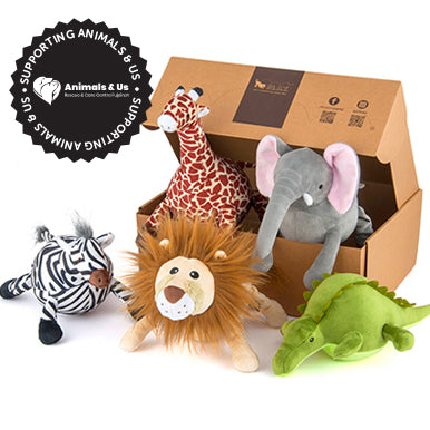 Safari Toy Collection (Set of 5 with FREE Gift box) - My Pooch and Co.