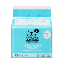 Wags & Wiggles Disposable Wraps 12 Pack - My Pooch and Co.