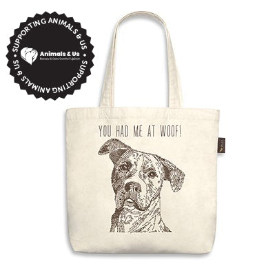 You Had Me At Woof! Tote Bag - My Pooch and Co.