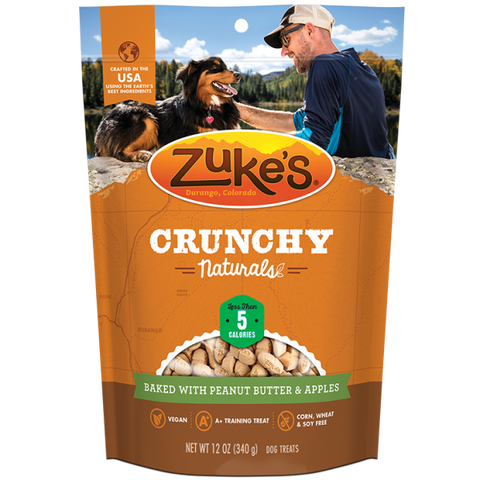 ZUKES Crunchy Naturals with Peanut and Apples 12oz - My Pooch and Co.