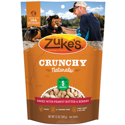 ZUKES Crunchy Naturals with Peanut Butter and Berries 12oz - My Pooch and Co.