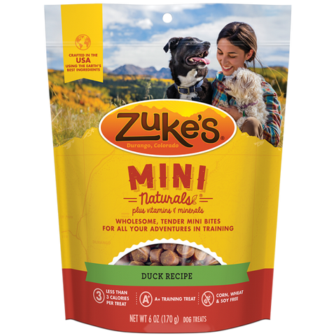 ZUKES Mini Naturals with Duck 6oz - My Pooch and Co.