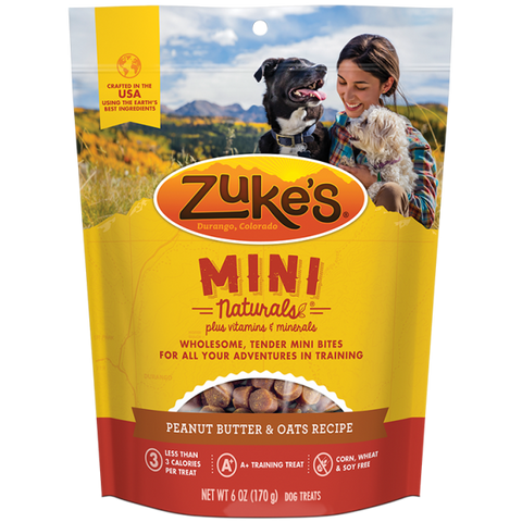 ZUKES Mini Naturals with Peanut Butter and Oats 6oz - My Pooch and Co.