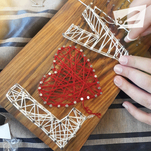 Kendin Yap String Art - Love