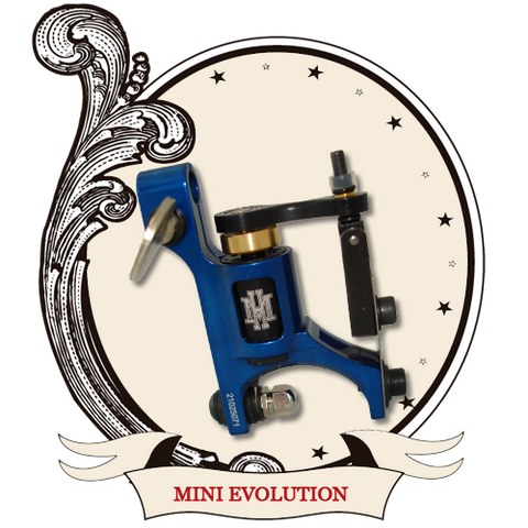 HM Mini Evolution Rotary Tattoo Machine BLUE
