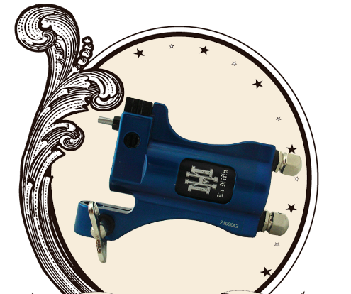 HM Santa Maria Rotary Tattoo Machine Clipcord Blue