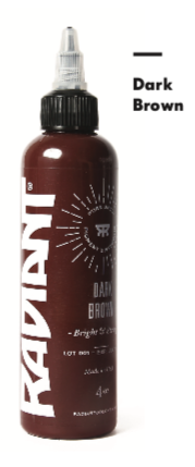 1oz Radiant Dark Brown Tattoo Ink