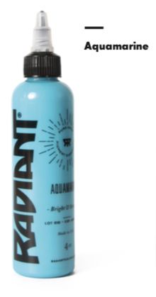 1oz Radiant Aquamarine Tattoo Ink