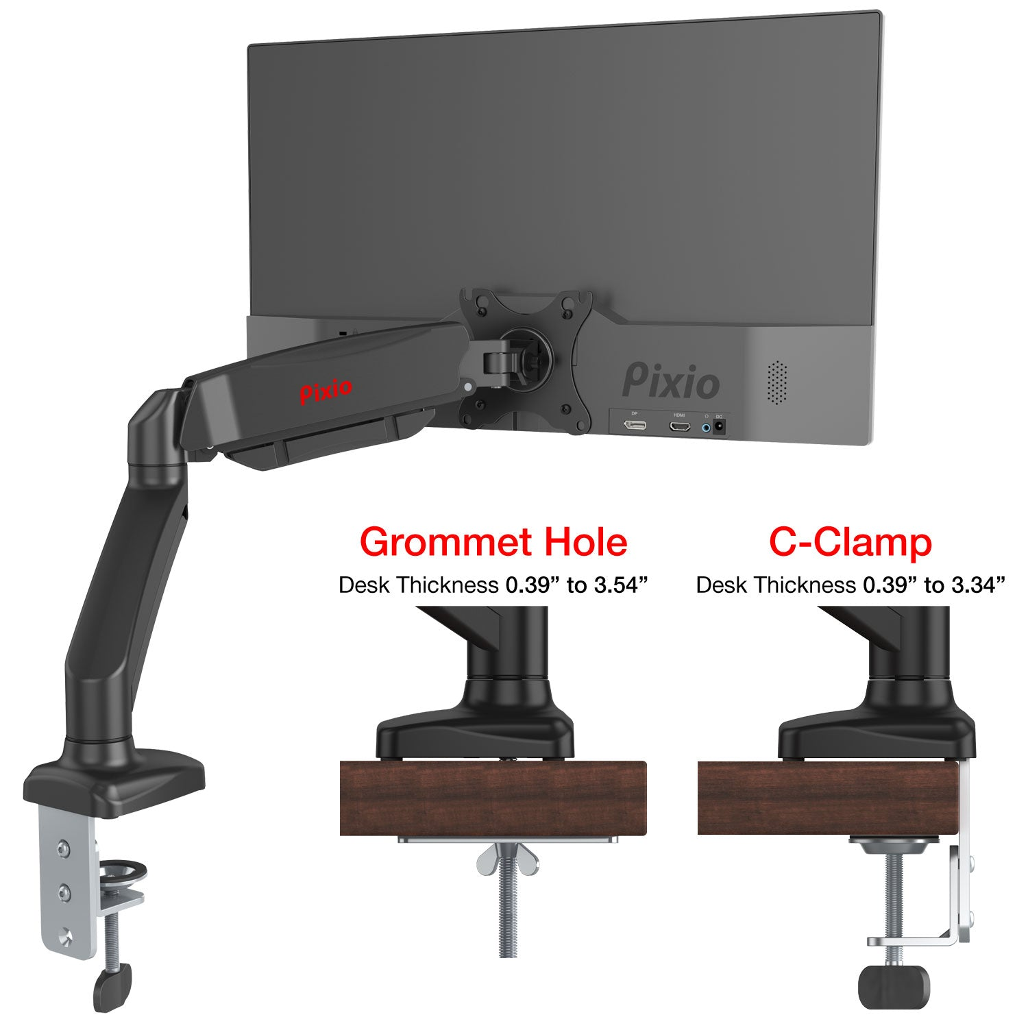 PS1D Dual Monitor Arm Mount - Certified Refurbished