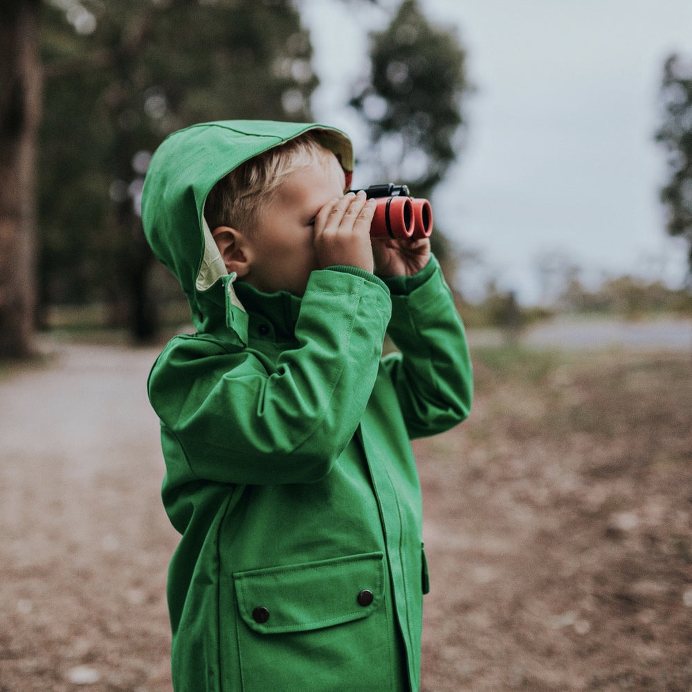 Green-Kids-Boys-Girls-Jacket-Coat