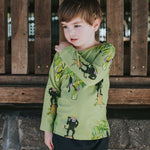 Boys-Girls-Winter-Organic-Cotton-top-Monkey-print