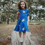 Blue-chihuahua-dog-twirling-girls-cotton-summer-dress