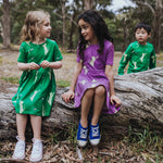 Green-girls-cat-bird-print-dress-with-pockets
