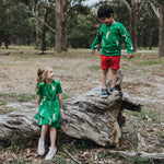 Green-cat-print-kids-unisex-boys-girl-jumper