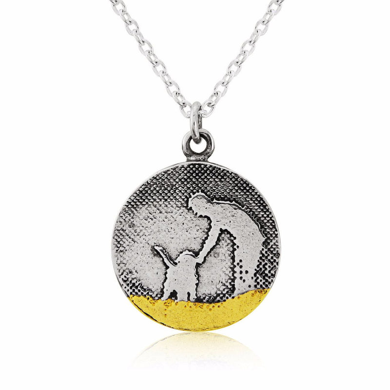 Beach Walks Round Dog Lovers Necklace