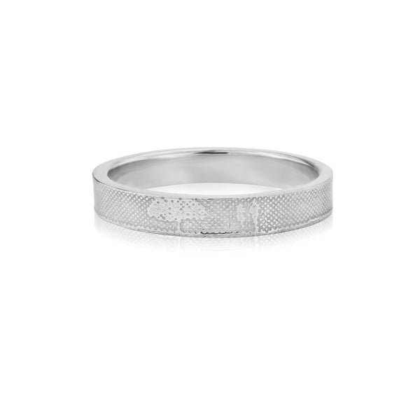Countryside Couple Wedding Ring in White Gold/Platinum