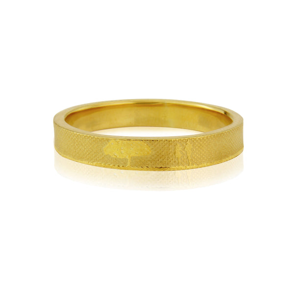 Countryside Couple Wedding Ring in Yellow Gold