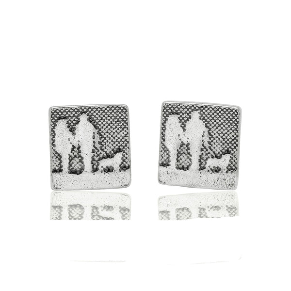 Couple and Mans Best Friend Beach Walks Dog Earrings