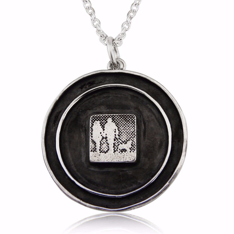 Couple & Dog Locket Lovers Necklace