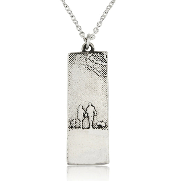 Couple & Mans Best Friend Necklace with two dogs