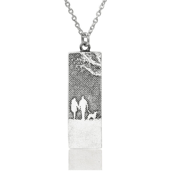 Couple & Mans Best Friend Silver Dog Necklace