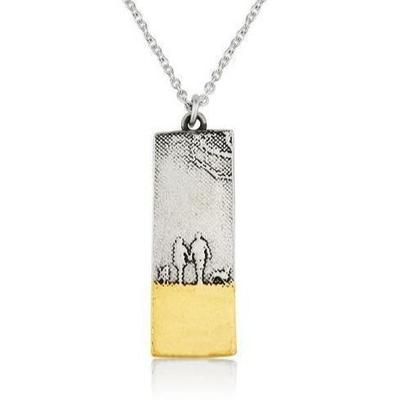 Couple & Two Dogs Beach Memories Necklace