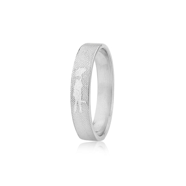 Dancing in the Rain 5mm Wedding Ring in White Gold/Platinum