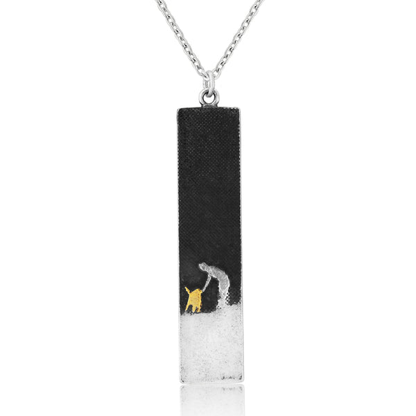 Dog Lovers Gold Dog Necklace 'Walks Beneath the Night's Sky'