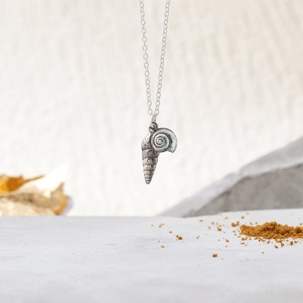 Double Shell Pendant in Sterling Silver