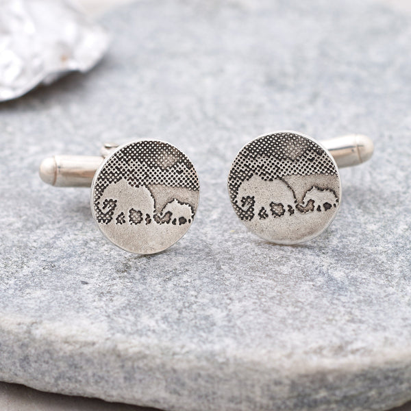 Elephant and Little Elephant Cufflinks