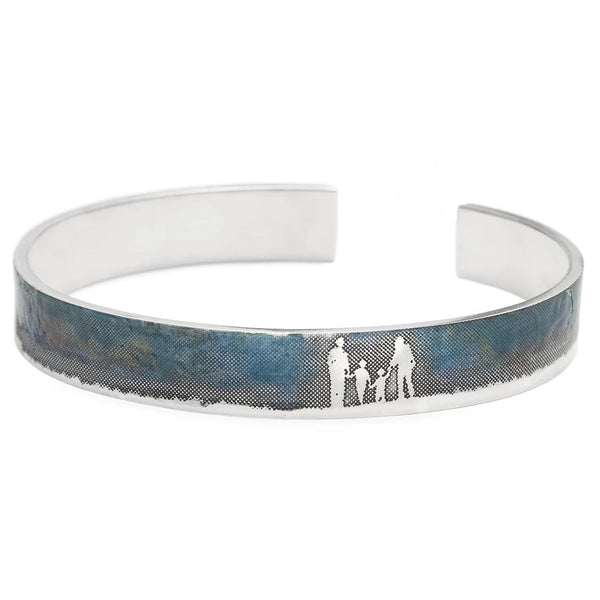 Family Bangle with Blue Sky