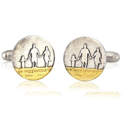 Family on the Beach Dad Cufflinks