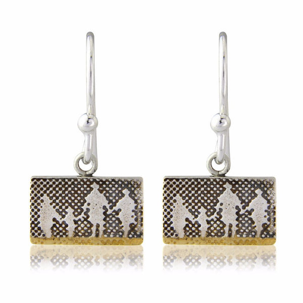Family on the Beach Drop Earrings