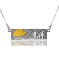 Family Tree Necklace with 22ct Gold Vermeil Tree