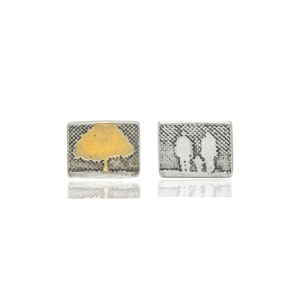 Family Tree Stud Earrings with 22ct Gold Vermeil