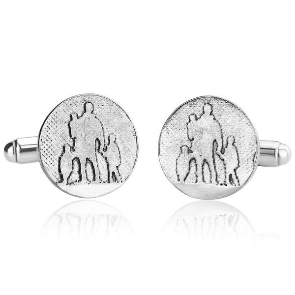Father of Three Dad Cufflinks
