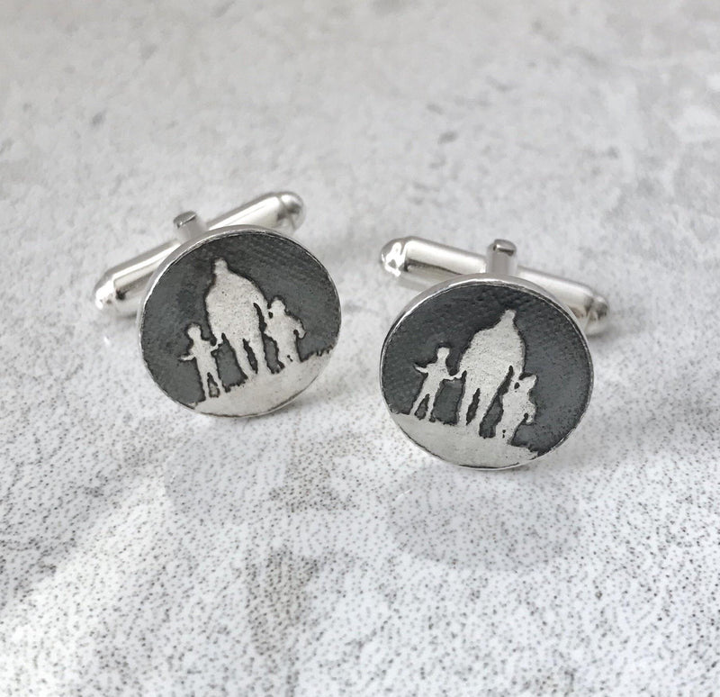 Father of two cufflinks