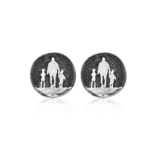 Father of Two Nights Sky Stud Earrings
