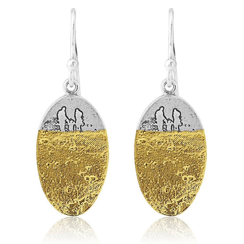 Footprints in the Sand Family Drop Earrings