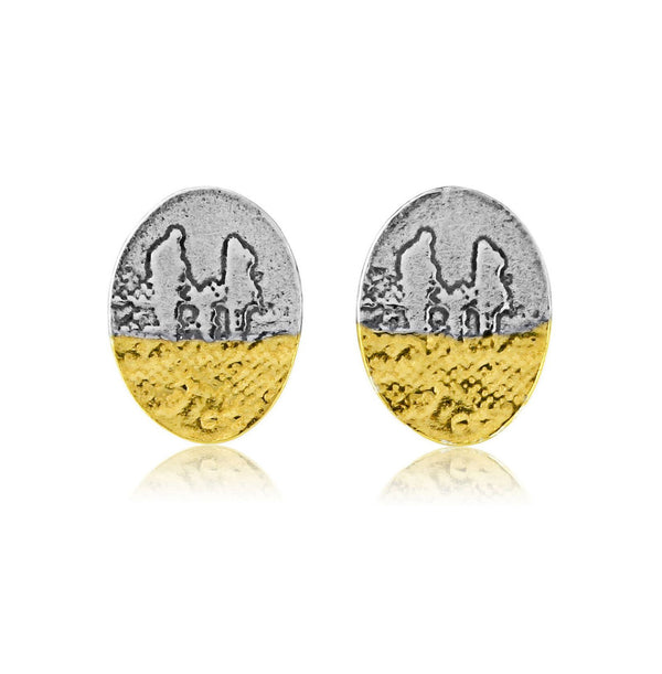 Footprints in the Sand Family Stud Earrings