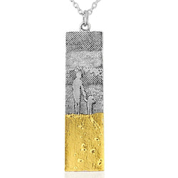 Footprints in the Sand Mother and Child Necklace