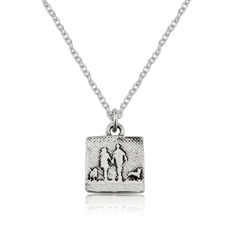Four Legged Friends Couple & Dog Necklace (Small)