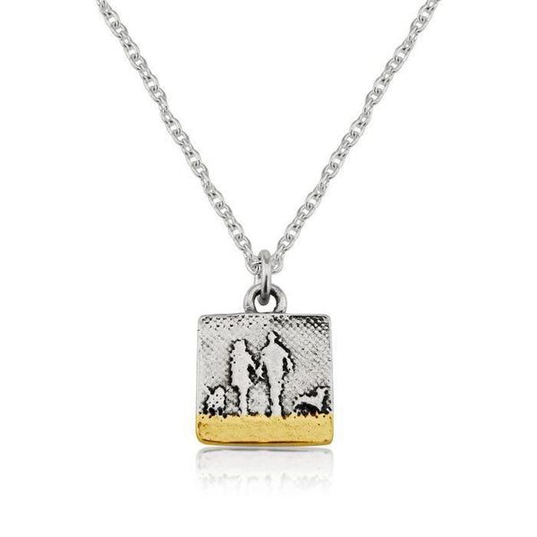 Couple & Dog Necklace with two dogs (Small)