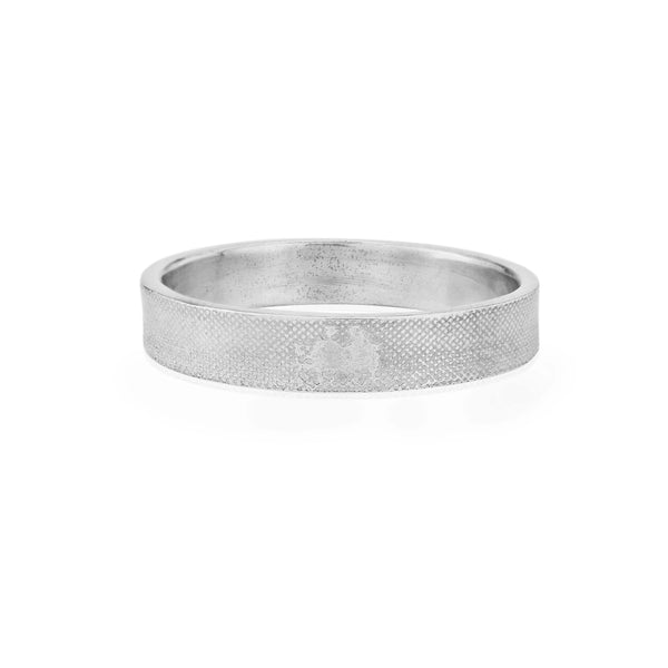 Gents 5mm Side by Side Wedding Ring in White Gold/Platinum