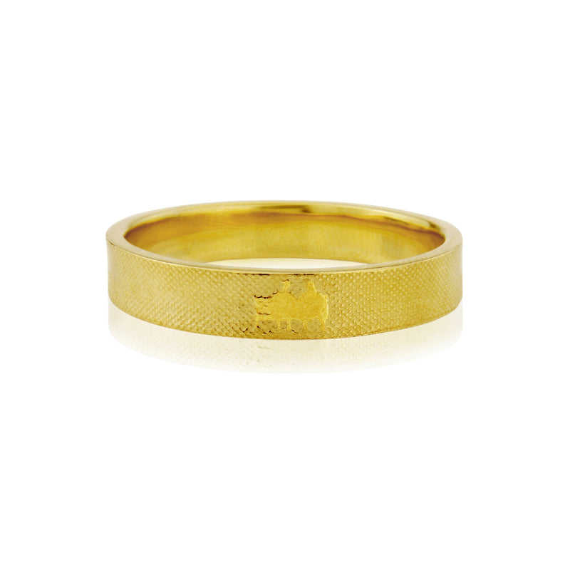 Gents 5mm Side by Side Wedding Ring in Yellow Gold