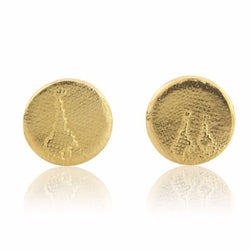 Giraffe Family Stud Earrings with 22ct Gold Vermeil