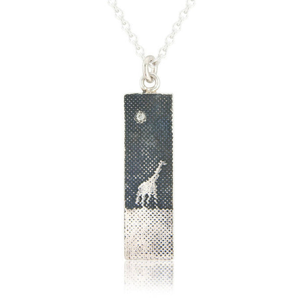 Giraffe Under the Night Sky Necklace