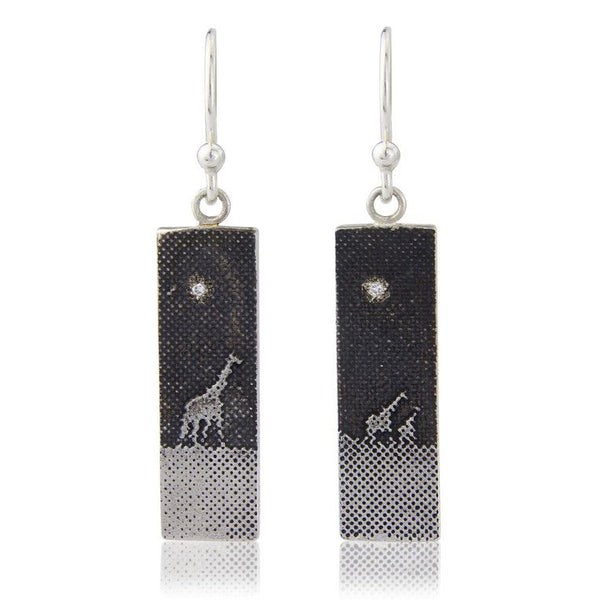 Giraffes Under the Night Sky Earrings