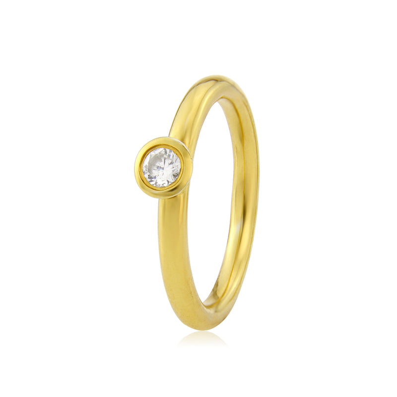 Halo Engagement Ring in Yellow Gold